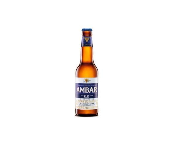 Botellas de Cerveza con Alcohol.Ámbar 00