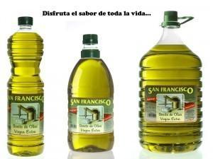 Aceite de Oliva.En distintos grados de maduración