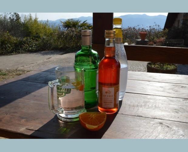 Aperitiu natural. 1 parte de Ap Free, 1 de ginebra y 3 de tonica