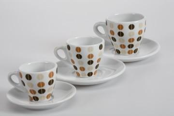 Pocillos. En 3 tamaños: para el café doble, con leche, y café solo