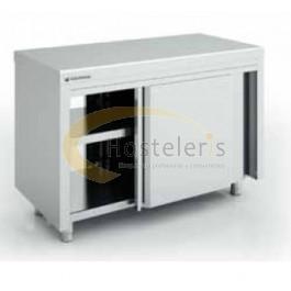 Mobiliario de acero inoxidable. Mesas calientes, frías y de trabajo
