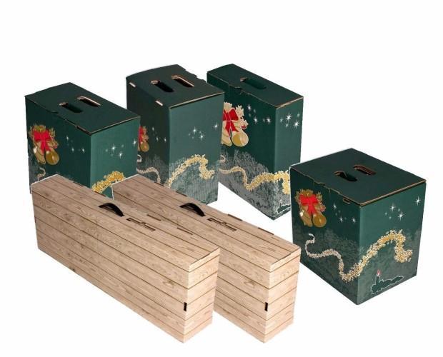 Cajas de cartón. Cajas para lotes de navidad, precios al por mayor