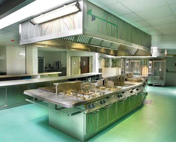 Cocina en acero inoxidable. Cocina restaurante en acero inoxidable.