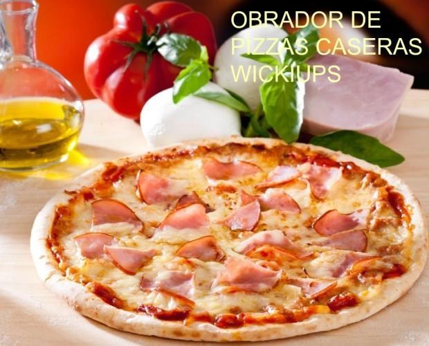 Pizzas Precocinadas.Pizza precocinada con jamón york