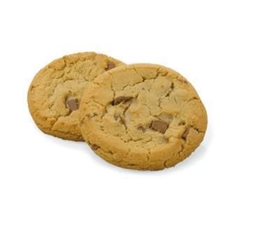 Cookies. Cookies de 50 gramos con pepitas de chocolate