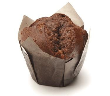Muffin de chocolate. Muffin doble chocolate
