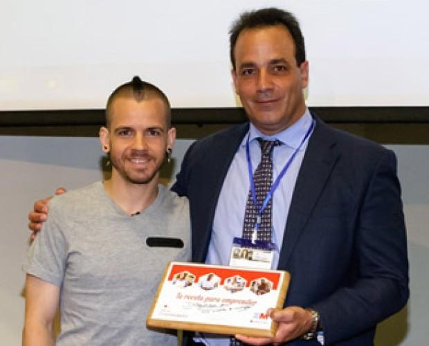 Chocolate Gourmet.Premio emprendedores 2015 entregado por David Muñoz
