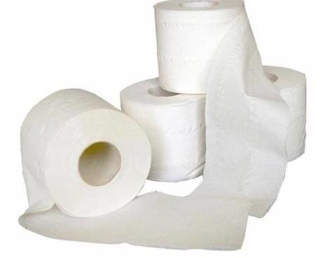 Papel higiénico. Paquete de 96 rollos de papel higiénico doméstico
