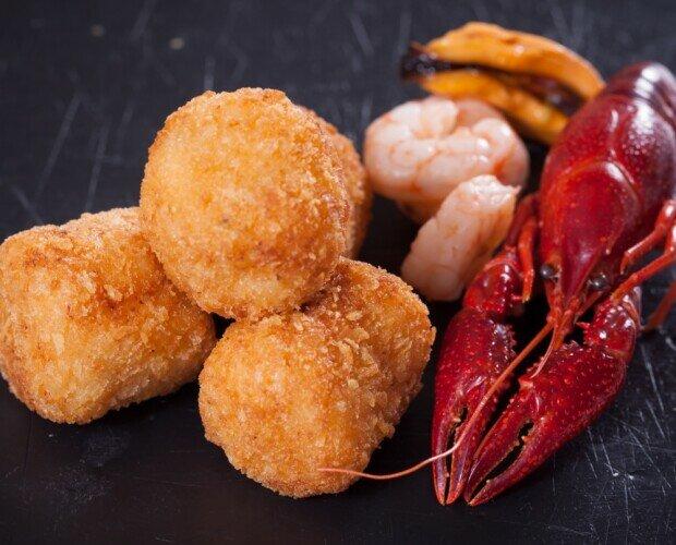 Croquetas de Marisco. Croquetas muy cremosas y con un delicado sabor a mar.