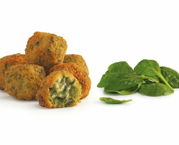 Croquetas de espinaca a la crema. Para los amantes de la comida sana y las verduras