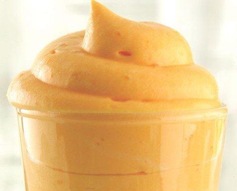 Mousse de mango. Rico sabor