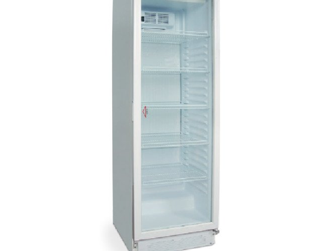 Armario. Armario puerta de cristal de frío