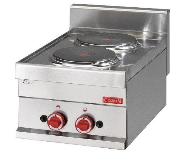 Cocina sobremesa. Cocina eléctrica sobremesa de 2 placas. Serie 600.