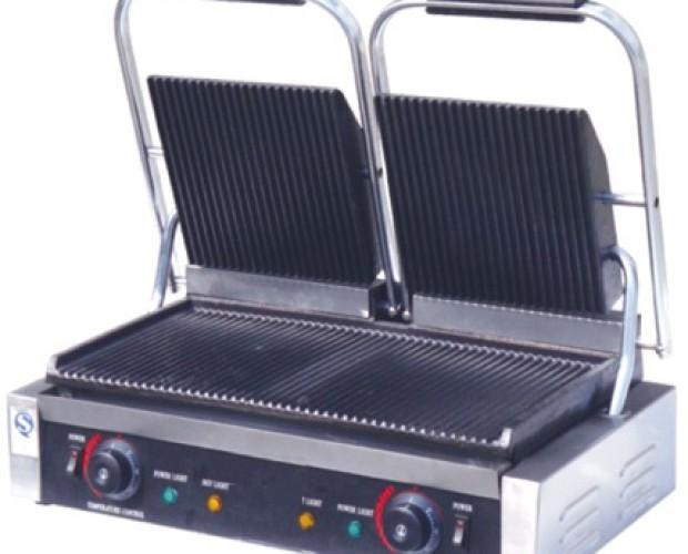 Grill eléctrico. Grill doble profesional