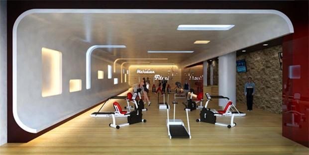 Decoradores Interioristas.Gimnasio en el centro comercial Herón City en Barcelona