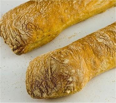 Panadería. Barra bastón, baguetinas, pulguitas, pan sin sal