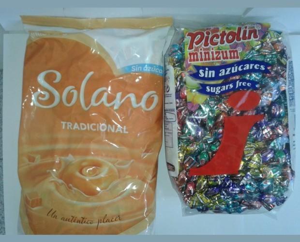 Bolsas de caramelos. Tradicionales y libres de azúcar