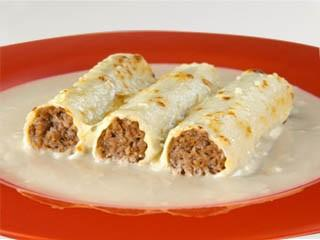 Canelones. Exquisitos canelones de carne