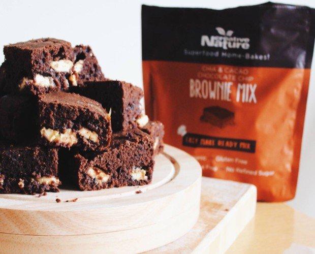 Alimentos para Alergias Alimentarias.Brownie de chocolate orgánico sin alérgenos