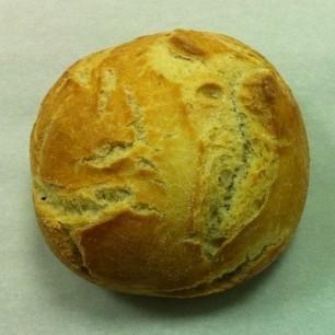 Variedad de panes. Bola de pan blanco