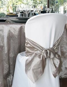 Fundas para sillas. Textil para bares