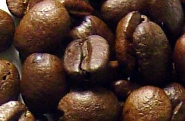 Café. Café en grano