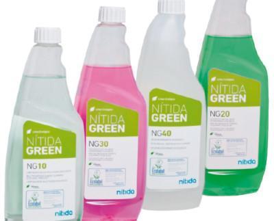 Productos Nítida Green. Productos ecológicos certificados con la Eco-Etiqueta oficial europea Ecolabel