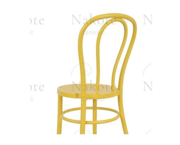 Silla de Polipropileno Amarilla. Modelo Thonet en resina