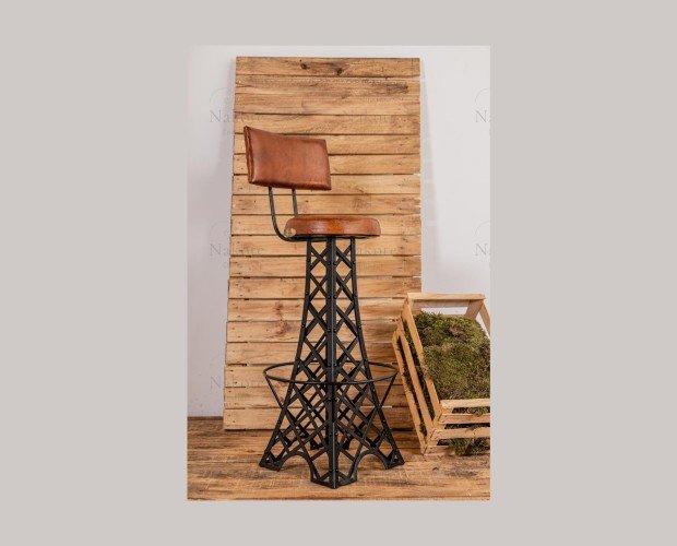Taburetes.Estilo industrial vintage con base de torre Eiffel