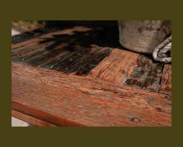 Detalle Mesa Farro. Mesa elaborada con madera reciclada modelo Farros