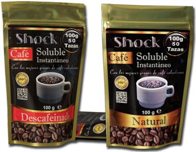 Café Soluble.Natural y descafeinado