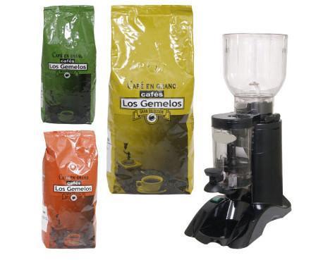 Café Los Gemelos. Divesidad de café y molinillos
