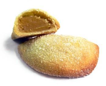 Pastel boniato. Pastel en forma de empanadilla con masa de boniato