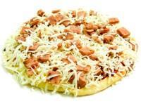 Pizza redonda jamón y queso