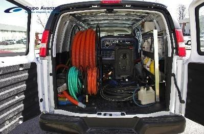 Furgo limpieza. Limpieza y desinfeccion de interioriores de vehiculos