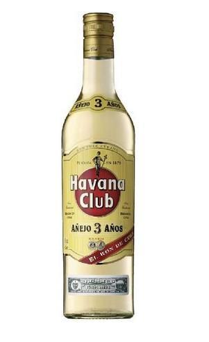 Bebidas Alcohólicas. Ron. Havana Club 3 años