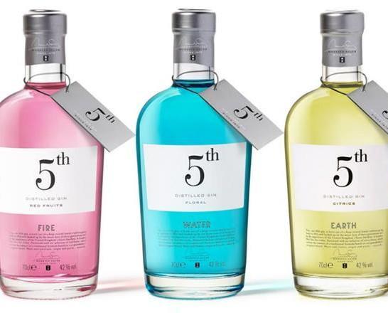 Ginebras 5th. Bebidas de calidad