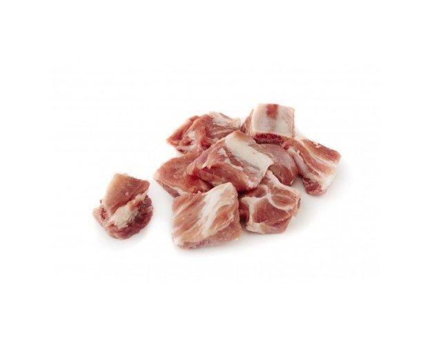 Tacos de costilla. Costilla de cerdo cortada a tacos. En cajas de 5 kg