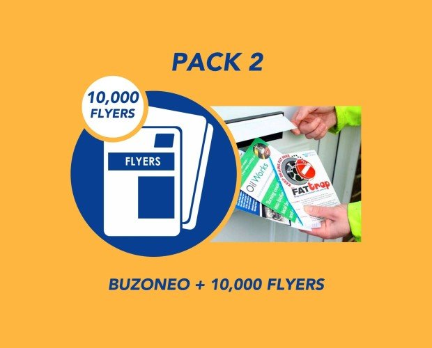 Pack 2. Buzoneo + 10000 Flyers A5