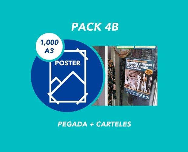Pack 4B. Pegada + 1000 Carteles A3