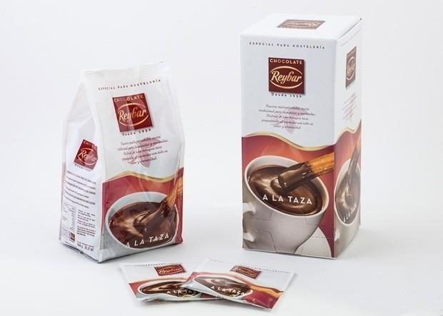 Chocolate a la taza Reybar. Sin gluten y sin conservantes
