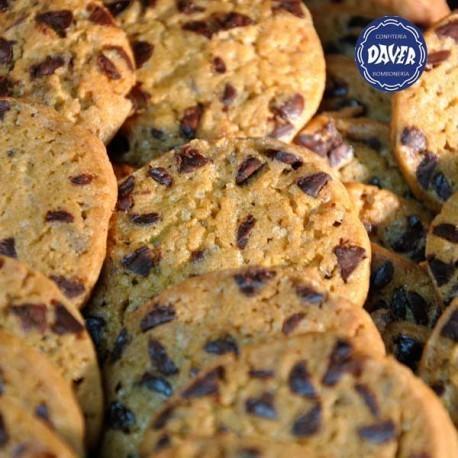 Cookies. Galletitas envasadas con chispas de chocolate