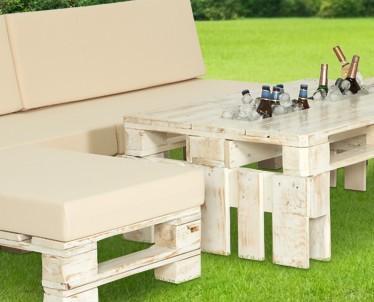 Conjunto Huerto XL. Mobiliario fabricado con palet tratado exterior