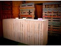Barra mostrador en blanco