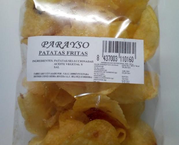 Patatas Fritas.Patatas seleccionadas fritas en aceite vegetal
