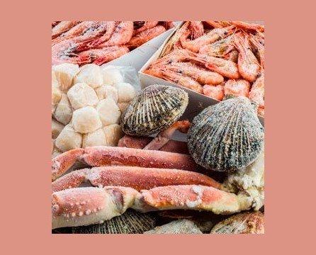 Marisco Congelado. Todo tipo de mariscos en diferentes tamaños y calidad