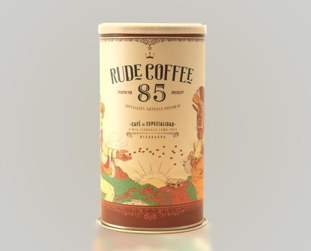 Café Ecológico.Packaging Rude Coffee 85 - Nicaragua