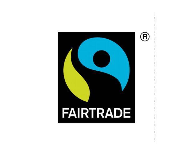 Logo Fairtrade. Café de comercio justo