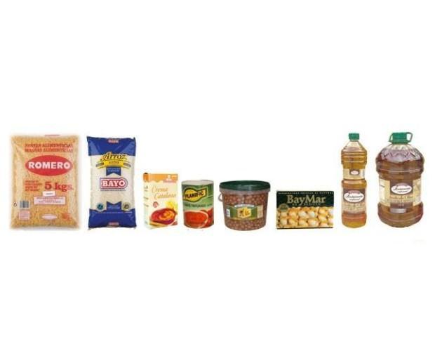 Alimentación. Pastas secas, arroz, aceite, conservas de todo tipo