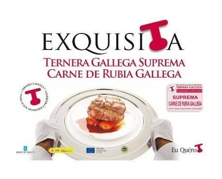 Ternera gallega. Carne de  rubia gallega, exquisita
